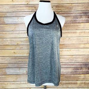 Adidas Heather Grey Black High 5 Athletic Tank Top
